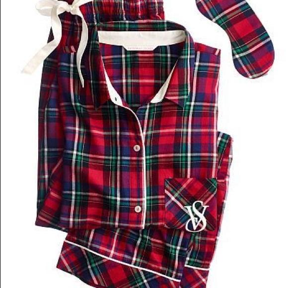 b09c8b2761cd7 Victoria's Secret the dreamer flannel pajama shirt